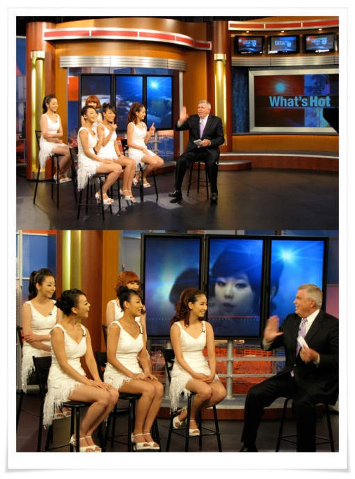 Wonder Girls appeared on channel ABC13 for an interview segment. (Photo courtesy of JYP Entertainment)